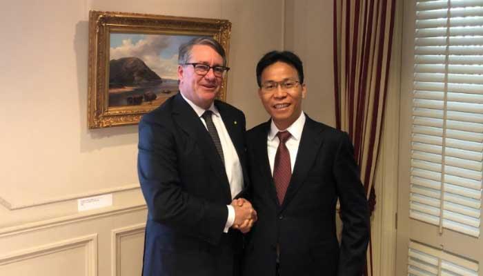 澳中委员会主席会见刘载望董事长,助推澳中医疗纵深合作